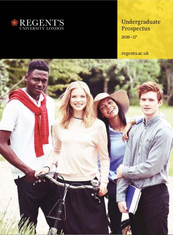 Regent's University undergraduate prospectus cover