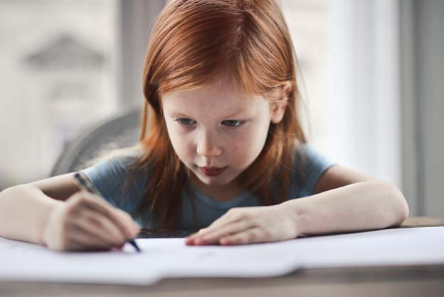 schoolgirl does SATs test