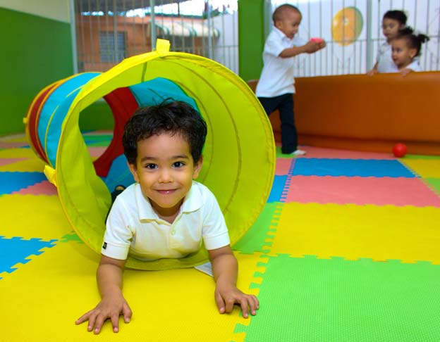 young children play at nursery