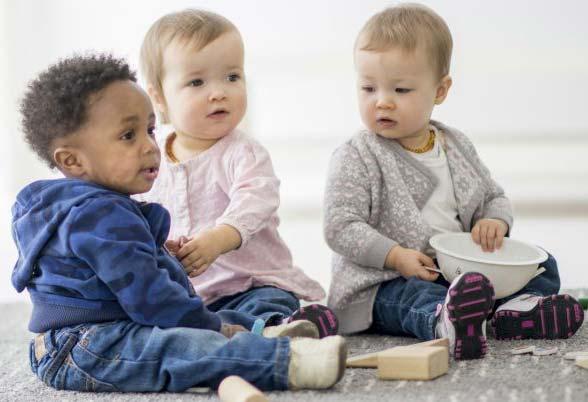 babies play at nursery